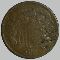 1867 SHIELD TWO CENTS