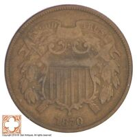 1870 TWO CENT PIECE XB35