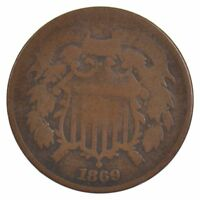 1869 TWO-CENT PIECE J89