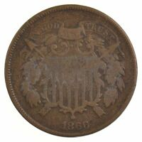 1866 TWO-CENT PIECE J96