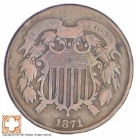 1871 TWO CENT PIECE YB31