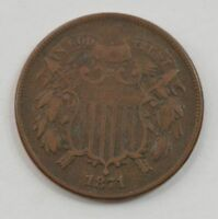 1871 TWO-CENT PIECE G61