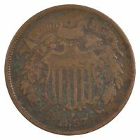 1867 TWO-CENT PIECE J91