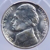 1943 D JEFFERSON NICKEL PCGS MS 65 FULLY STRUCK AND NICE D/D WEXLER RPM 2