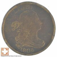 1806 DRAPED BUST HALF CENT XB90