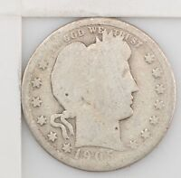 1905 BARBER/LIBERTY HEAD QUARTER DOLLAR  Z16