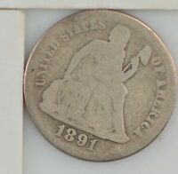 1891 S LIBERTY SEATED DIME  Z52