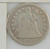 1857 LIBERTY SEATED DIME  Z57