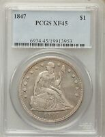 1847 SEATED LIBERTY SILVER DOLLAR PCGS EXTRA FINE 45 -   13953