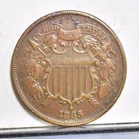1865 TWO CENT PIECE - EXTRA FINE  9113