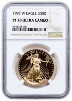 1997-W $50 1 OZ. PROOF AMERICAN GOLD EAGLE NGC PF70 UC SKU16575