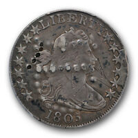 1805 50C OVERTON 104A DRAPED BUST HALF DOLLAR PCGS EXTRA FINE  EXTRA FINE DETAILS
