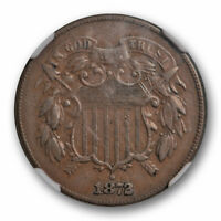 1872 TWO CENT PIECE 2C NGC EXTRA FINE  40 EXTRA FINE KEY DATE FULL MOTTO COIN