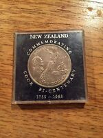 NEW ZEALAND ONE DOLLAR COIN COMMEMORATIVE COIN COOK BI CENTENARY 1769 1969   Y96
