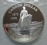 1998 CANADA 125TH ANNIVERSARY OF THE RCMP PROOF SILVER DOLLA