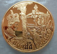 2002 CANADA GOLDEN JUBILEE PROOF GOLD PLATED SILVER DOLLAR C