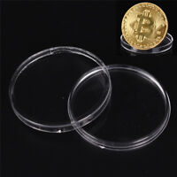 COINS BOXES 40MM TRANSPARENT PROTECT HOLDER BOX CASE STORAGE COLLECTING SEAU