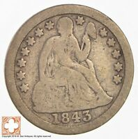1843 SEATED LIBERTY SILVER DIME  2929