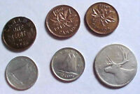 MIXED LOT OF VINTAGE CANADIAN COINS
