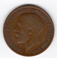 GREAT BRITAIN GEORGE V PENNY 1D 1920 NICE COIN R40787