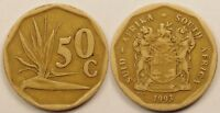 SOUTH AFRICA  50 CENTS  1993
