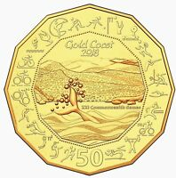 2018 50C 50 CENT GOLD PLATE UNCIRCULATED XXI COMMONWEALTH GAMES 20 000 MADE