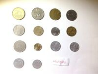 LOT OF 14 DIFFERENT HUNGARY COINS   WORLD COIN LOT COLLECTION LBS POUNDS