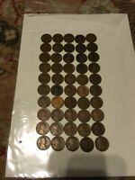 1912 D LINCOLN CENT WHEAT CENT ROLL 50 COINS