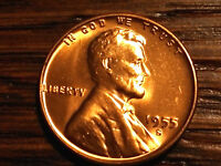 1955 S  WHEAT CENT  LINCOLN CENT ANTIQUE  COIN COLLECTABLE FROM OBW ROLL