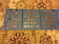 1909-1940 LINCOLN CENT WHEAT CENT COLLECTION 85 COINS MISSING 5