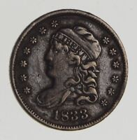 1833 CAPPED BUST HALF DIME 0670
