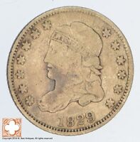 1829 CAPPED BUST HALF DIME SB65