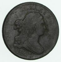 1807 DRAPED BUST HALF CENT - CIRCULATED 3604