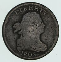 1803 DRAPED BUST HALF CENT - CIRCULATED 3581