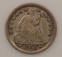 1853-P SEATED LIBERTY SILVER HALF DIME G57
