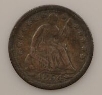 1854 LIBERTY SEATED HALF DIME, ARROWS AT DATE G71