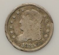 1835 CAPPED BUST SMALL DATE & 5 C SILVER HALF DIME G77