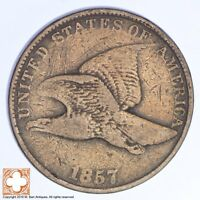 1857 FLYING EAGLE CENT XB47