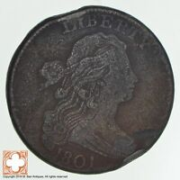 1801 DRAPED BUST LARGE CENT 0803