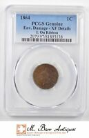 GENUINE 1864 INDIAN HEAD CENT - GRADED PCGS 2436