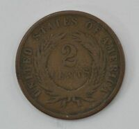 1871 TWO CENT PIECE Q39
