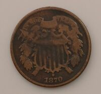 1870 TWO-CENT PIECE Q57