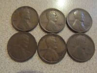 LOT OF 6 LINCOLN WHEAT CENT -1909 VDB, 1912, 1913 S, 1913 D, 1915, 1915 D   149