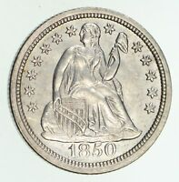 1850 SEATED LIBERTY DIME - NOT CIRCULATED - POLISHED 4744