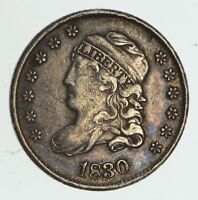 1830 CAPPED BUST HALF DIME - CIRCULATED 4114