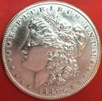 1887-S ALMOST UNCIRCULATED SANFRANCISCO MINT MORGAN SILVER DOLLAR 1$ 81180483