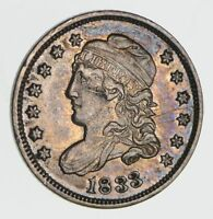 1833 CAPPED BUST HALF DIME- CIRCULATED 2400