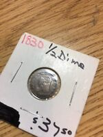 1830 1/2 HALF DIME CAPPED BUST SILVER