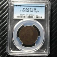 1798 LARGE CENT PCGS VG8 - 2ND HAIR -  39170