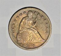 1871 SEATED LIBERTY DOLLAR GORGEOUS COLOR AKF0318